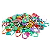 SODIAL(R) 100PCS Knitting Crochet Locking Stitch Needle Clip Markers Holder Fine