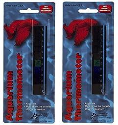 American Thermal Horizontal Aquarium Thermometer (2 Pack)