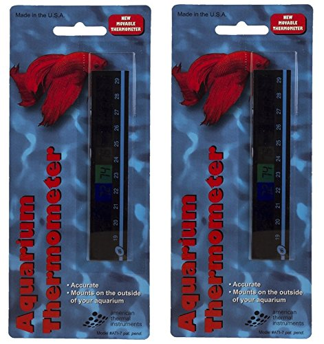 American Thermal Horizontal Aquarium Thermometer (2 Pack) by American Thermal Instruments
