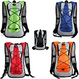 Outdoor backpack Outdoor sports cycling water bags bike bags hiking travel water bag backpack backpack for men and women cycling package orange -hotspeed
