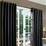 Thermalogic Weathermate Solid Insulated Grommet Top Curtain Panel/Pairs-Black, 160 x 84″ Review