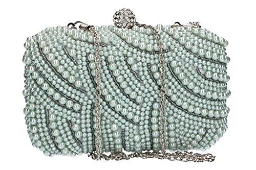 VN1922 FEMME PASSION pochette à gris DE cérémonie perles femme Sac avec main PCn5qrCS