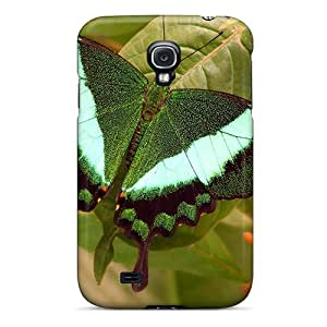 Premium [HaiEurQ4586FPgvG]emerald Butterfly Case For Galaxy S4- Eco-friendly Packaging
