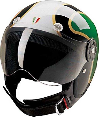 - HCI Open Face Fiberglass Motorcycle Helmet - Italian Flag - 15-670 (Large)