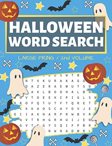 Halloween Word Search And Puzzles (Halloween Word Search: Puzzle Book Large Print - 80 Halloween Puzzles (Edition/Volume)
