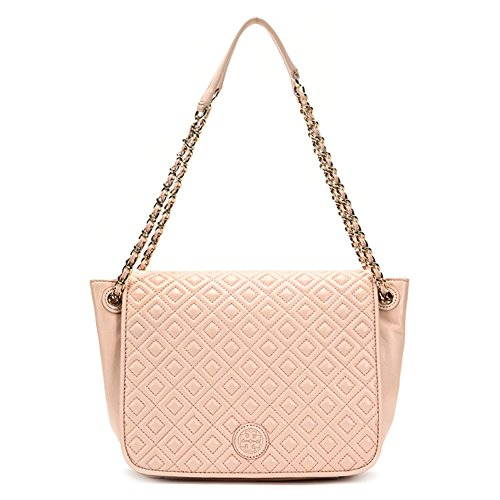 Tory Burch Marion Quilted Small Flap Shoulder Bag 12169712 Pale Apricot One Size