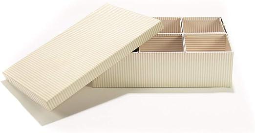 tapidecor Caja Carton JOYERO con 6 DIVISIONES 37X25X10: Amazon.es ...