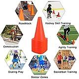 9 Inch Plastic Training Traffic Cones, 24 Pack