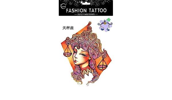 Tatuajes Temporales Para Diferentes constelación Libra de 12 ...