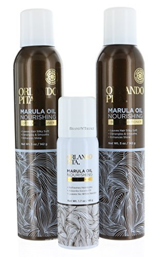 Pack 2, Orlando Pita Marula Oil Dry Conditioner 5 oz/142g each With Bonus Travel Size Dry Shampoo 1.7 oz