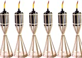 Tiki Original Natural Bamboo Table Torch, Handcrafted Design (Pack of 6)