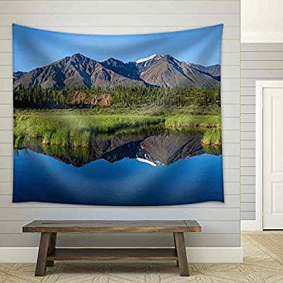 Grand Expert Craftsmanship, That's 100% USA Made, Mckinley Reflection in Lake on Alaska Fabric Wall