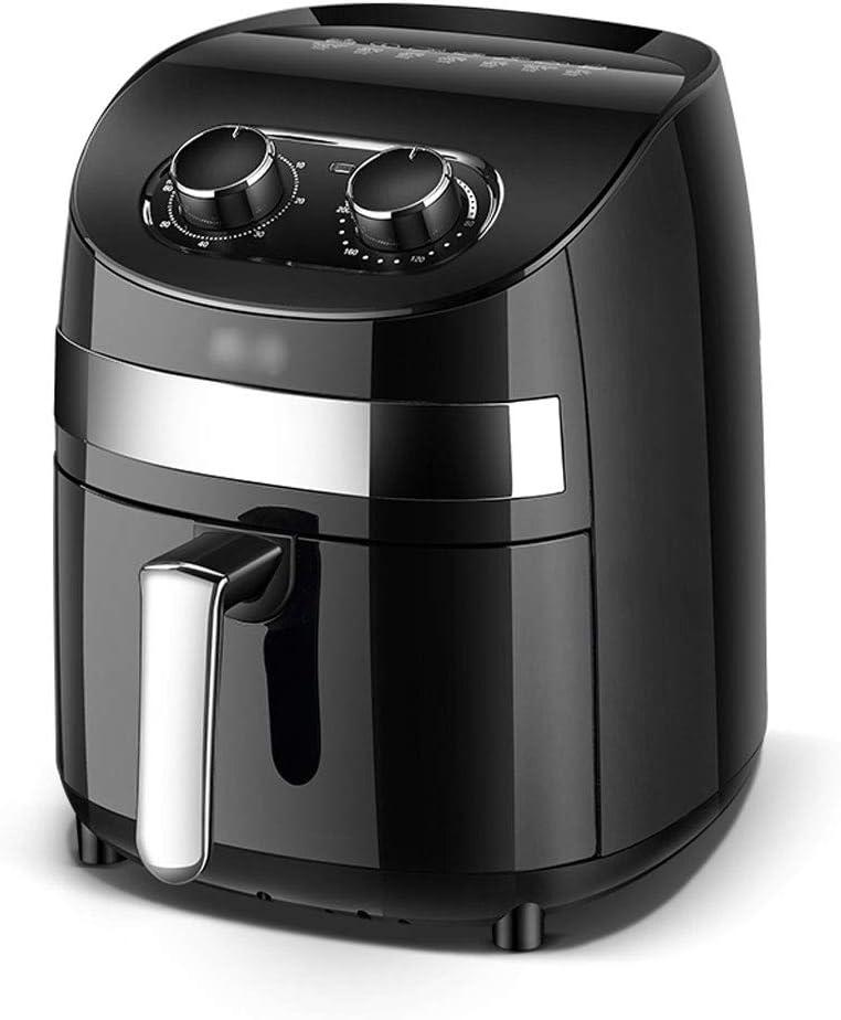 Miami Air Fryer Oven Cooker Compact Deep Fryer with Temperature Control, Non Stick Fry Basket,3.8qt, Auto Shut Off Feature(Black)
