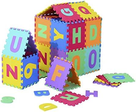 Alfombra Puzle 2.41㎡ Niños 3 Años 26 Letras Goma Espuma Estera Juego Puzzle