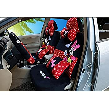 2018new 1 Set Cute Cartoon Universal Luxury Car Seat Cover Super Soft Short Plush Breathable