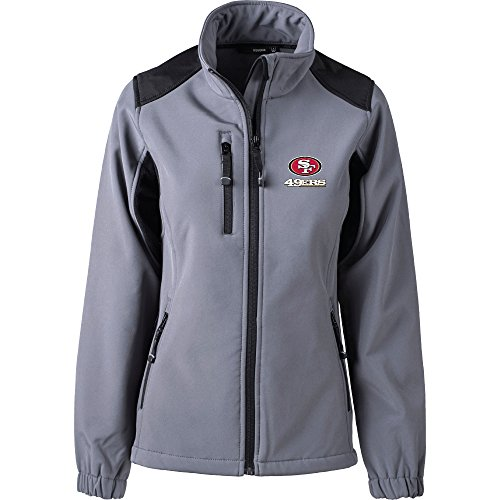 (Dunbrooke Apparel NFL San Francisco 49ers Women's Softshell Jacket, X-Large, Graphite )