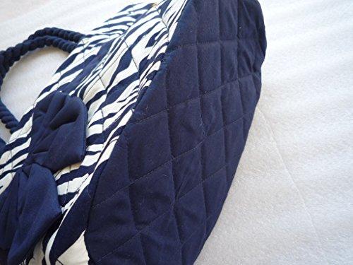 Ariyas Thaishop, Damenhandtasche aus Baumwolle mit Schleife 34 x 22 x 16 cm (BxHxT)