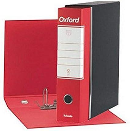 Nobile ufficio ordinato 6 raccoglitori protocollo archivio documenti dorso 8cm formato standard resistente in cartone e rivestimento in carta goffrata colore Multicolore