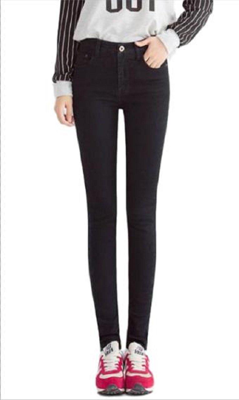 MFWAREHOUSE Women's Stretch Skinny Slim Fit Denim Jeans Leggins Jegging Medium (Black, 27Wx30L)