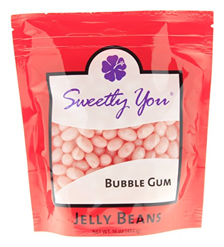 Jelly Belly 16 OZ Bubble Gum Flavored Beans.  bulk jelly bea
