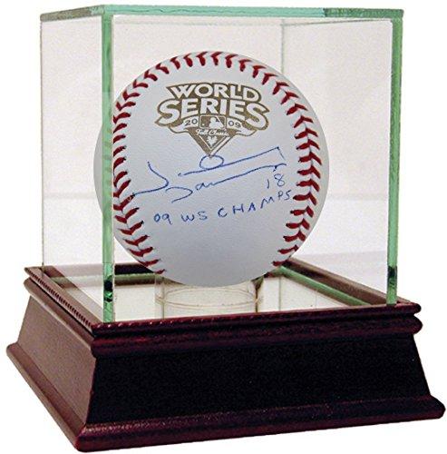 Derek Ball Jeter - Johnny Damon Signed 2009 WS Baseball w/ 09 WS Champs Insc (MLB Auth)