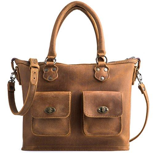 Leather Love Tote - Love 41 Full Grain Leather Classic Crossbody Tote Handbag Purse for Women Includes 41 Year Warranty