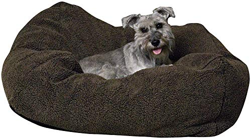 K&H Pet Products Cuddle Cube Pet Bed 32″ x 32″, Large, Mocha