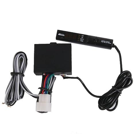 perfk Indicador Automotriz de Fines Generales Automotriz APEXI 12V Digital Display Turbo Timer Lápiz - Rojo
