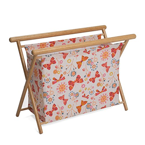 Hobby Gift HGKSL/245 Butterflies Print Large Knit/Sew Stand | 23x48.5x35.5cm by Hobby Gift