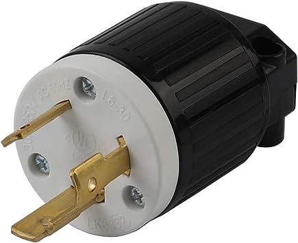 30 Amp 250 Volt Male Female Twist Lock 3 Wire Power Cord Plug Nema L6-30P L6-30R