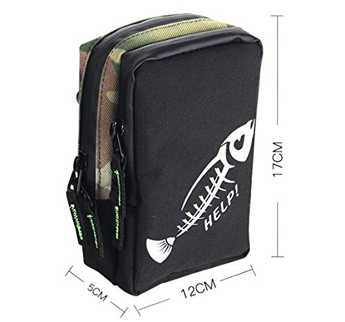 Entsport Fishing Tackle Bag Small Bag for Fishing Accessories Go anywhere Outdoors Bag Fashion Bag (Camouflage)
