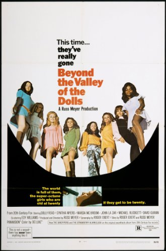 "Beyond the Valley of the Dolls 1970 ORIGINAL MOVIE POSTER Comedy Musical - Dimensions: 27"" x 41"""