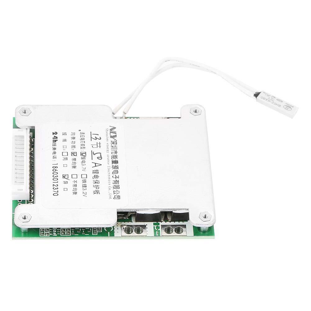 Carte de Protection de Batterie au Lithium PCB BMS Panneau de Protection de Batterie 13S 50A avec Charge Equilibrée Module de Protection de Court-circuit