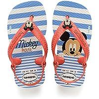 Havaianas Sandálias New Baby Disney Classic, Branco/Morango