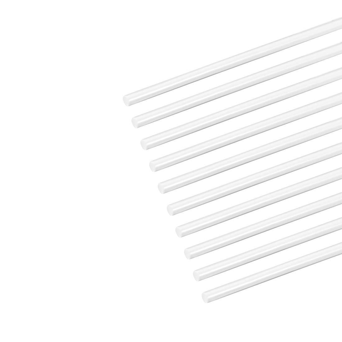 Rund Stab Stange f/ür Architekturmodellbau DIY ABS Kunststoff 1mm/×20 Wei/ß sourcing map 4 Stk