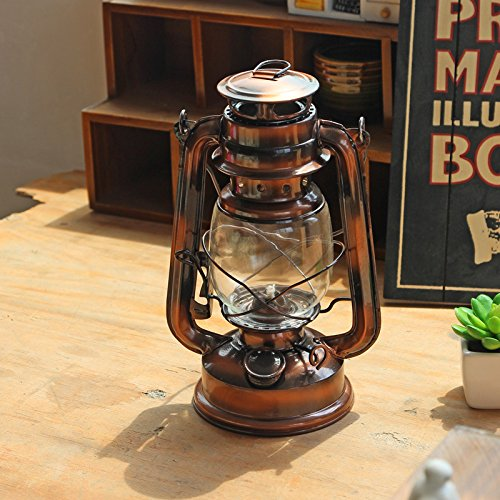 KINGZUO 灯油ランプ ブロンズランタン