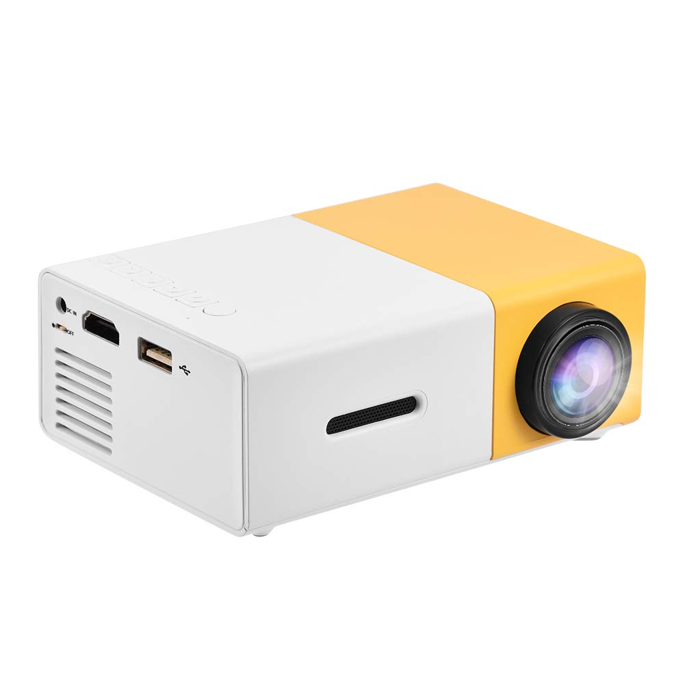 Upgraded Mini Projector, Asixx LED Portable Projector Full HD Mini Video Projector Support 1080P HDMI, AV, USB for Home Cinema, TVs, Laptops, Games, ...