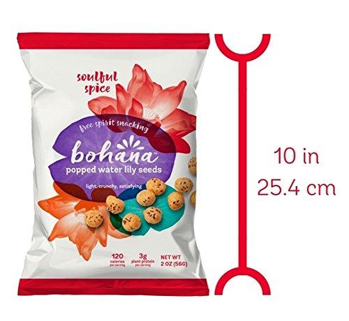 Bohana Gluten Free Popped Water Lily Seed Snack, Soulful Spice, 2oz, (Pack of 6) by BOHANA (Image #3)
