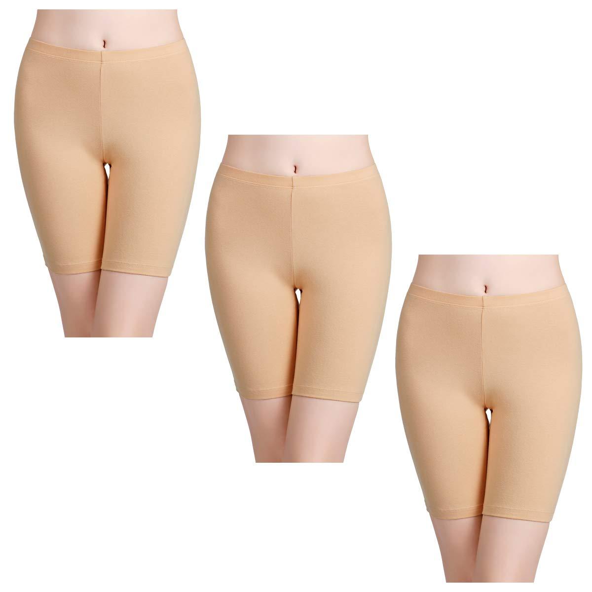 5df44522ca9 wirarpa Women's Anti Chafing Cotton Shorts Long Leg Knickers Ladies Soft  Boxer Shorts Underwear 3 Pack: Amazon.co.uk: Clothing