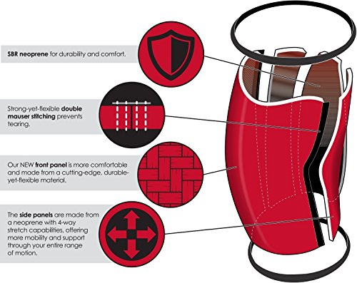 Rocktape Assassins 5mm Knee Sleeves (2 Sleeves), Small (Fits 11.5-13.5 Inches), Crossfit Games Official Red by Rocktape (Image #2)