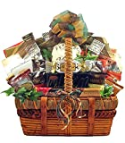 Deluxe Gourmet Gift Basket | Meat, Cheese, Nuts, Chocolate, Cookies and More