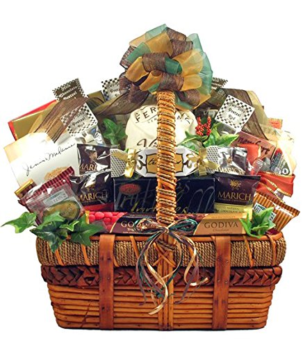 Deluxe Gourmet Gift Basket | Meat, Cheese, Nuts, Chocolate, Cookies and More by Gifts to Impress
