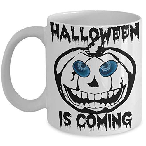 Game of Thrones Mug-Halloween is Coming -Pumpkin Whitewalker with 3D Spooky Blue Eyes 11oz