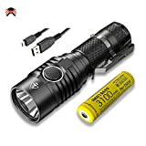 Nitecore MH23 USB Rechargeable LED Torch High Performance 1800 Lumen CREE XHP35 HD IPX8 Waterproof [ 3100mAh Rechargeable Battery Inlcuded ]