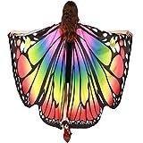 ShenPr Women Novelty Chiffon Butterfly Wings Peacock Wings Shawl Fairy Nymph Pixie Costume (02_Multicolor)
