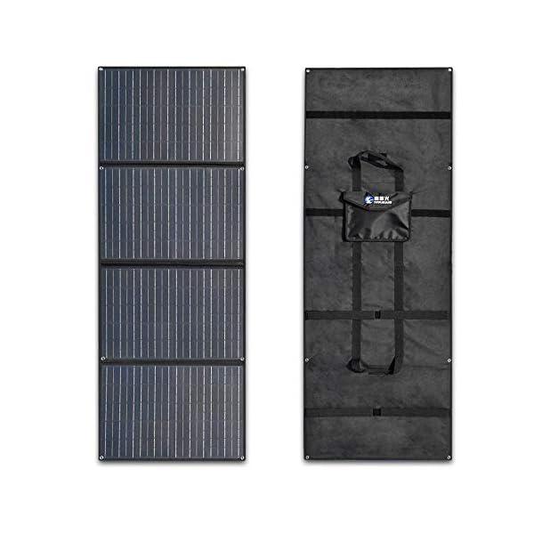 51aozaHDGQL XINPUGUANG 200W (50Wx4pcs) 20V faltbares Solarpanel-Ladegerät MonoCrystalline Silicon Optional für Camper Zelt Wohnmobil…