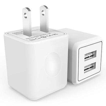 Amazon.com: kerrkim 2,4 A, 12 W 2-Port universal cargador de ...