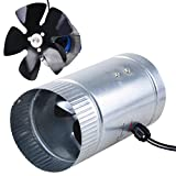 Hydroponic 4'' 120 CFM Inline Duct Booster Vent Fan with Aluminum Blade