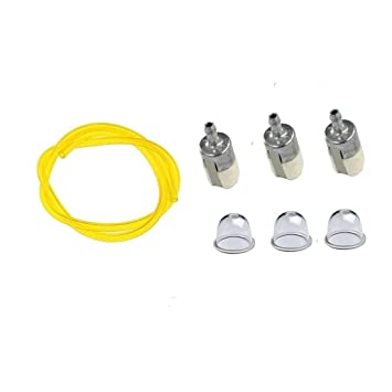 TucParts 3x Fuel filter with Fuel Hose Primer Bulb for Honda GX22