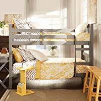 iNSPIRE Q Simone Twin and Twin Bunk Beds by Junior Grey Painted